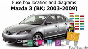 Fuse Box Location And Diagrams  Mazda 3  Bk  2003