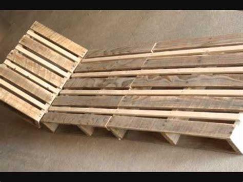 chaise palette fabriquer une chaise longue design en palette