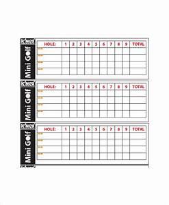 10 golf scorecard templates free sample example format for Golf scorecard template download