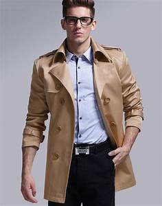 Michael Kors Mens Belt Size Chart Men 39 S Fashion Windbreaking Mid Length Trench Coat Winter