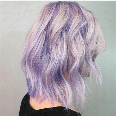 Beautiful Lavender Blue To Icy Blonde Color Melt By