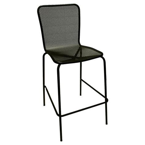 mesh bar stools american tables seating 92 bs black mesh outdoor bar stool 4083