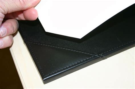 dacasso black leather 38 x 24 desk pad with blotter