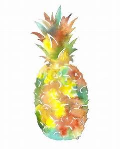 Colorful Pineapple Original Watercolor Painting