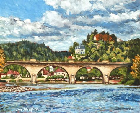 dordogne limeuil   river painting  france art