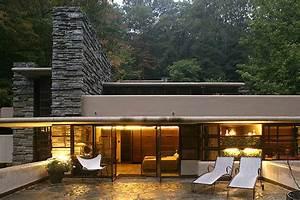 Frank Lloyd Wright Architektur : patio fallingwater frank lloyd wright dream organische architektur frank lloyd wright ~ Orissabook.com Haus und Dekorationen