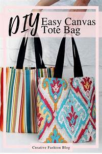 Easy Tote Bag Pattern W   Video Tutorial
