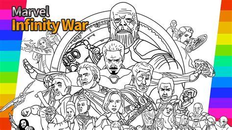 marvel avengers infinity war   draw painting ironman hulk tor drawing  coloring