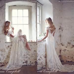 boho wedding dress shop cbell 2015 backless lace bohemian boho wedding dresses v neck cap sleeves sweep