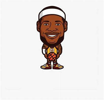 Lebron Lakers James Cartoon Clipart Player Clipartkey