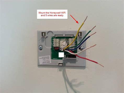 diy installation honeywell wifi thermostat rthwf