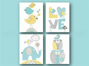 les 25 meilleures idees de la categorie gris bleu jaune With affiche chambre bébé avec bouquet rond