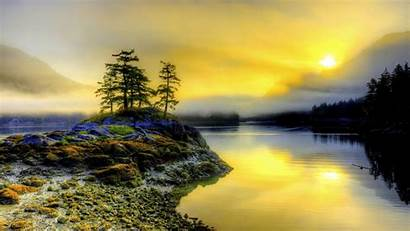 Northwest Pacific Nature Morning Canada Wilderness Misty