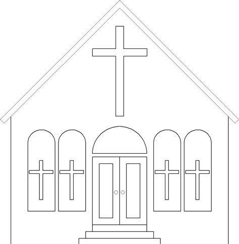 church coloring pages coloring page church