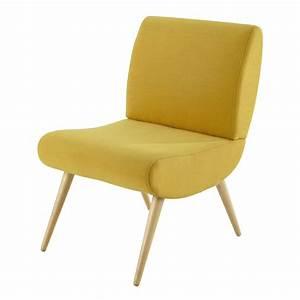 Petit Fauteuil Jaune : fauteuil vintage en tissu jaune cosmos maisons du monde ~ Teatrodelosmanantiales.com Idées de Décoration