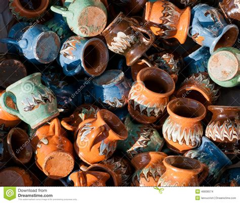 ceramics souvenir shop traditional vases royalty free stock image image 32265626 romanian traditional pottery handcrafted mugs at a souvenir shop romanian traditional