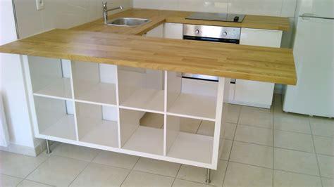 cuisine ouverte ikea séparation de cuisine avec kallax