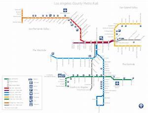 Los Angeles County Metro Rail Map