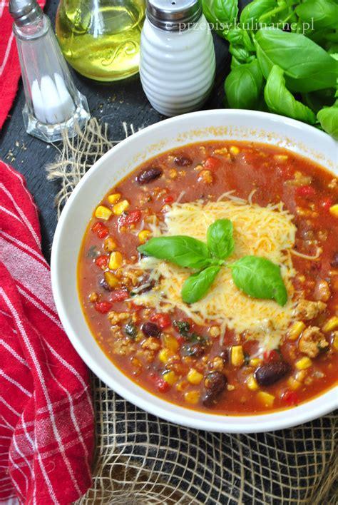Zupa meksykańska z mięsem mielonym - e-PrzepisyKulinarne.pl