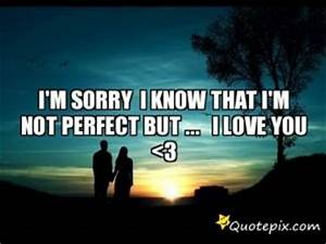 Im Sorry Im Not Perfect Quotes. QuotesGram