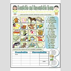 Countable And Uncountable Nouns Worksheet  Free Esl Printable Worksheets Made By Teachers
