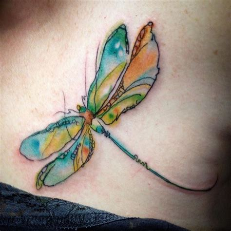 watercolor dragonfly tattoo designs ideas  meaning