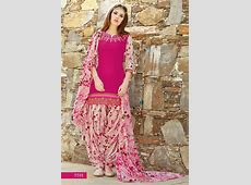 Fashionnow Pink Cotton Patiala Salwar Kameez Patiala