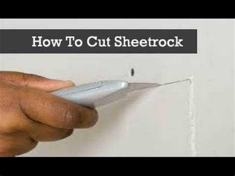 How To Cut Drywall Or Sheetrock With A Knife Cutting
