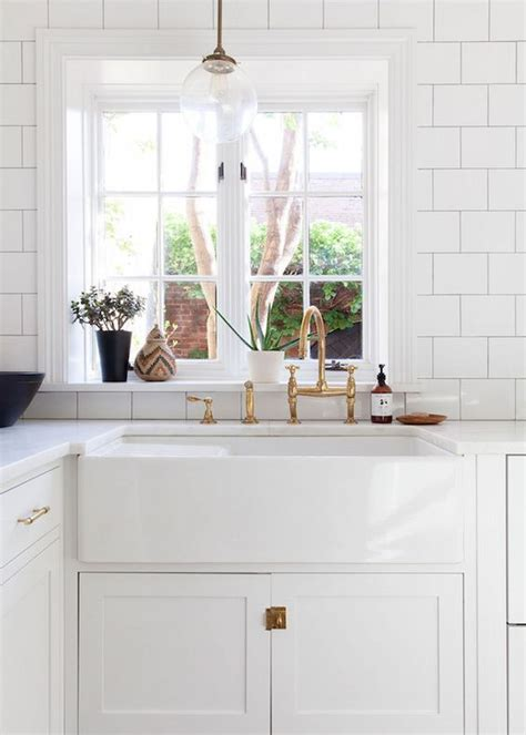 white kitchen farm sink farmhouse sinks kitchen inspiration the inspired room 1371