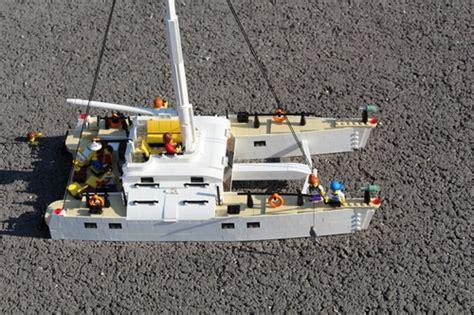 Boat Catamaran Lego by Catamaran Sailboat A Lego 174 Creation By Gabor Horvath