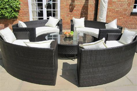 how to buy wicker garden furniture on a budget out out oakita rattan garden furniture circular sofa set