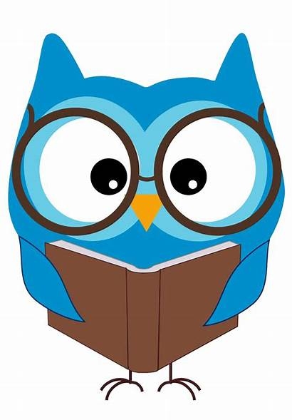 Clipart Owl Cartoon Library Reading Clip Writing