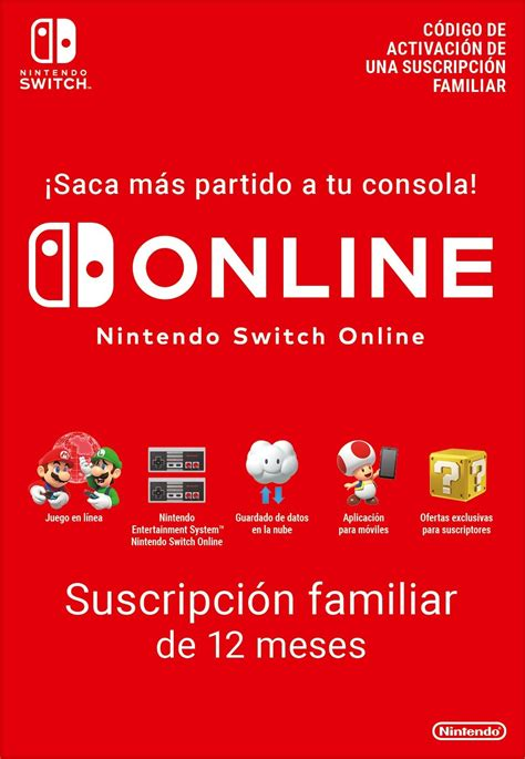 nintendo switch  family subscription  months