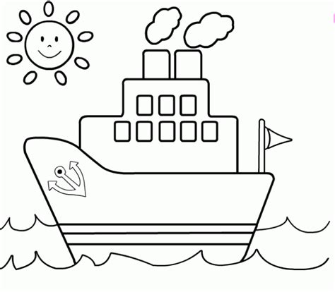 Barco De Vapor Dibujo Para Colorear by Barco De Vapor Infantil