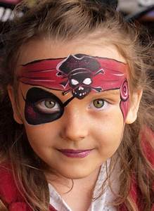 Picture Of girl's pirate makeup with a painted headband ...