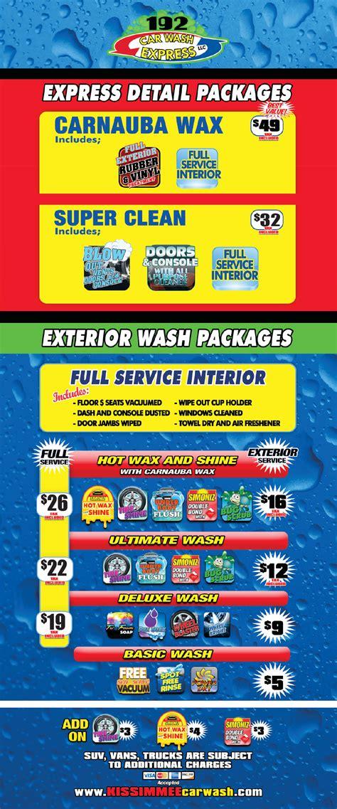 car wash service kissimmee car wash services carwash express