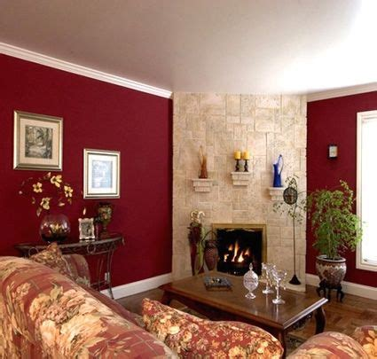 rooms with burgundy color schemes living kitchen