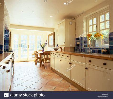 open floor plan kitchen terracotta tiled floor in open plan kitchen dining room 3724