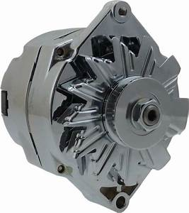 120a Chrome Street Rod Alternator Gm 305 350 Bbc Sbc 1 One