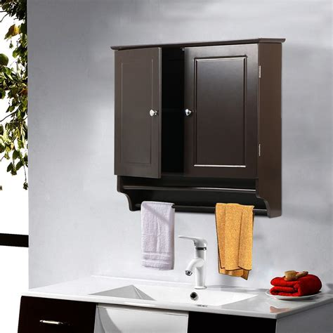 2 Door Wall Mount Storage Cabinet Kitchen Bathroom