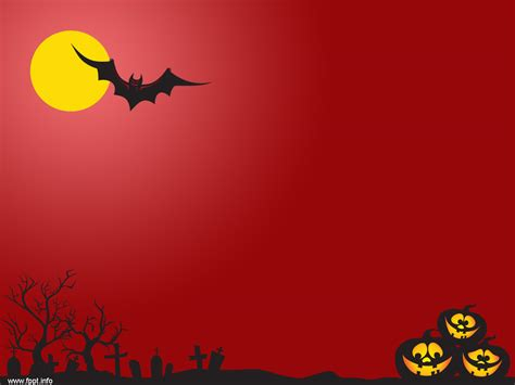 red night scary powerpoint templates professional powerpoint