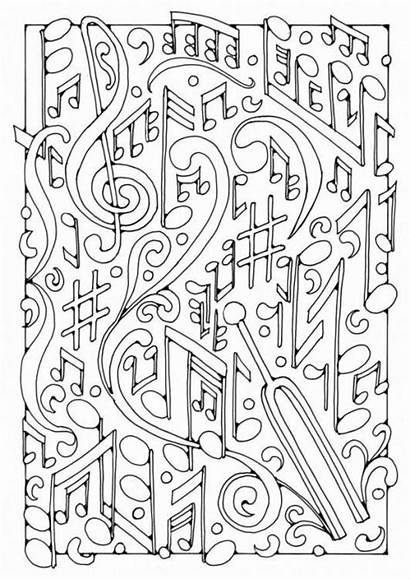 Coloring Pages Piano Adult Sheets Colouring Worksheets