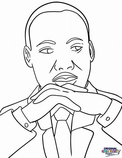 Luther Martin King Mlk Coloring Pages Drawing