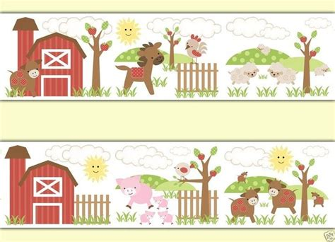 Farm Animal Wallpaper Border - farm animals border