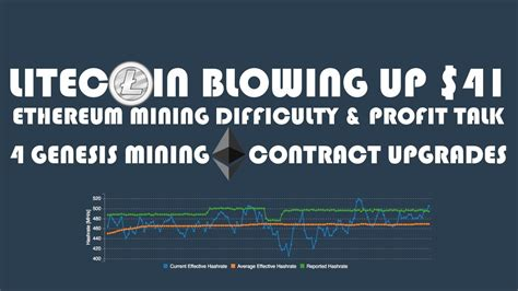 genesis mining profitability litecoin blowing up 41 ethereum mining difficulty