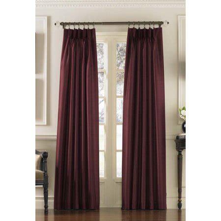 marquee faux silk pinch pleat drapery curtainworks marquee faux silk pinch pleat curtain panel