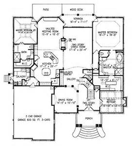 Harmonious Two Master Suites House Plans by Floor Plan With 2 Master Suites Almost House