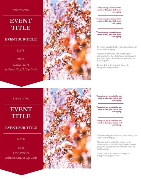 page flyer word template  word templates