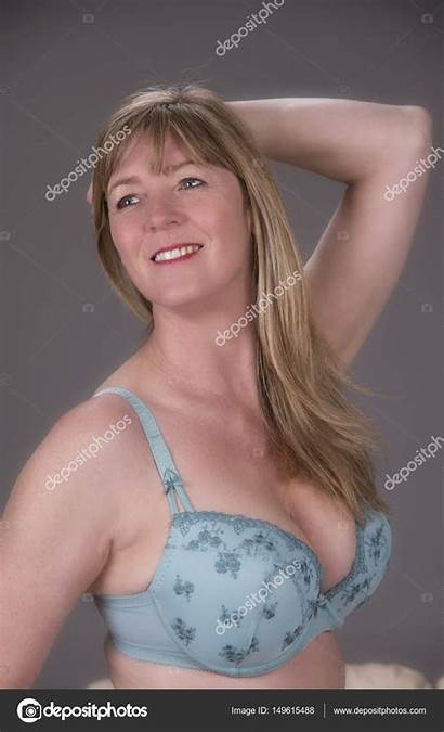 Aged Middle Woman Attractive Blond Depositphotos