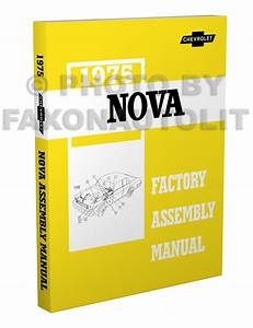 Chevy Nova Wiring Diagram Manual Reprint